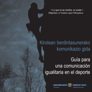 Guía para una comunicación igualitaria en el deporte Kirolean ...