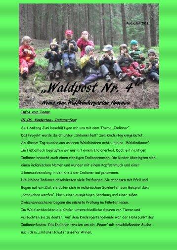 """""""Waldpost Nr. 4"""" - Waldkindergärten und Ilmenau"""