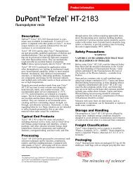 DuPont(TM) Tefzel(R) HT-2183 fluoropolymer resin