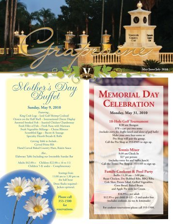 Mother's Day Buffet - Vineyards Country Club