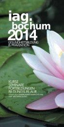 Programmheft 2014.indd - IAG Bochum
