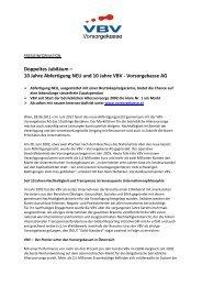 10 Jahre Abfertigung NEU und 10 Jahre VBV - Vorsorgekasse AG