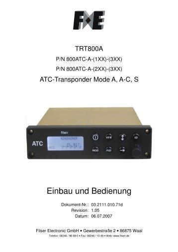 Filser Transponder TRT 800 A