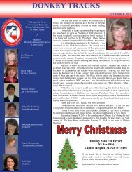 DONKEY TRACKS - Women's Democratic Club of Clark County