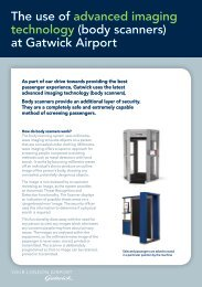 leaflet about security body scanners - Gatwick Airport