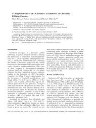 Nγ-Alkyl Derivatives of L-Glutamine As Inhibitors of Glutamine ...