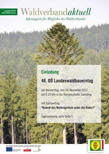 Waldverbandaktuell - Bäuerlicher Waldbesitzerverband OÖ