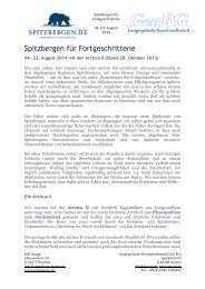 Zusammenfassung aller wichtigen Informationen zu ... - Spitzbergen