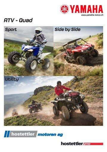 Der neue ATV / Quad-Katalog ist da! - hostettler motoren ag