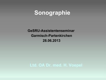 Sonographie - GeSRU