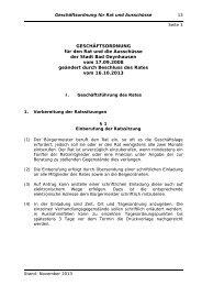 GESCHÄFTSORDNUNG für den Rat und die ... - Bad Oeynhausen