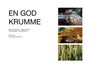 EN GOD KRUMME - opskrifthæfte - CPH Good Food