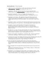 Selected publications of Rainer Huopalahti