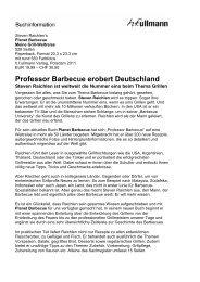 Professor Barbecue erobert Deutschland - hf ullmann