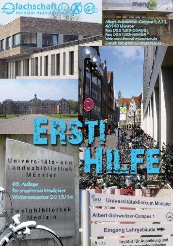 Ersti-Hilfe Wintersemester 2013/14 - Fachschaft Medizin Münster