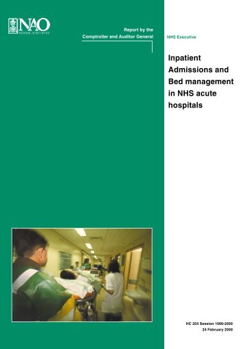 Inpatient Admissions and Bed management in NHS acute hospitals