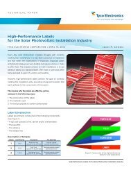 High-Performance Labels for the Solar Photovoltaic ... - Newark