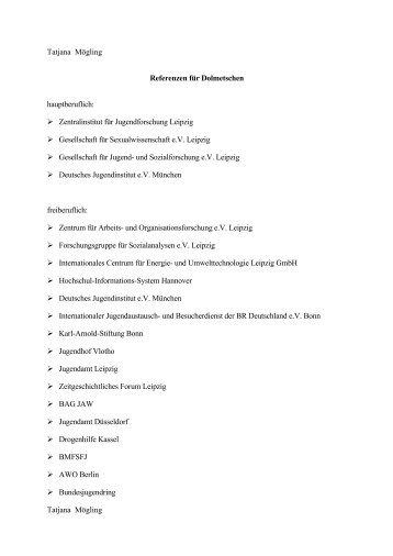 Referenzen Dolmetschen / Übersetzen - IJAB