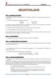 """Reglamentos Deportivos de la """"R.F.E.B."""" (Biathlón) Página 1"""