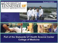 Medical Student Education - The University of Tennessee Health ...