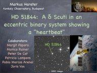 HD 51844: A δ Scuti in an eccentric binary system showing a ...