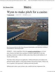 Everett mayor says Steve Wynn signs deal for ... - City of Springfield
