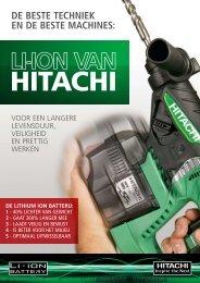 DE BESTE TECHNIEK EN DE BESTE MACHINES: - Hitachi