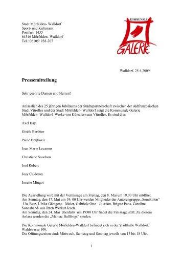 Pressemappe (PDF) - Kommunale Galerie