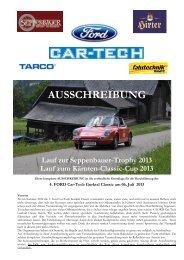 Ausschreibung Ford Car-Tech Gurktal Classic 2013 (.pdf)