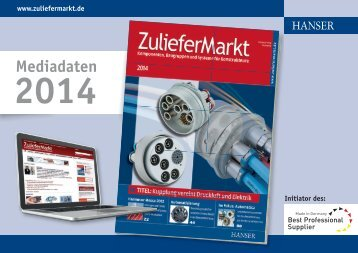 ZulieferMarkt Mediadaten [PDF] - Hanser Mediacenter
