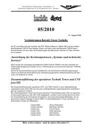 inside_05_2010 - Fachverband der Flugsicherung Deutschland eV