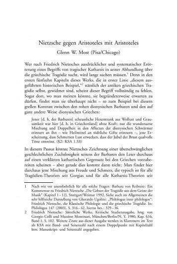 Nietzsche gegen Aristoteles mit Aristoteles - RUhosting