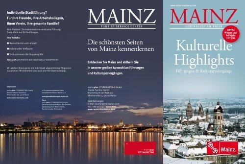 Broschüre Kulturelle Highlights Winter/Frühjahr 2013/2014