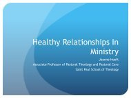 Healthy Relationships In Ministry - Leadership Institute