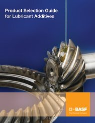 Product Selection Guide for Lubricant Additives - Performance ...