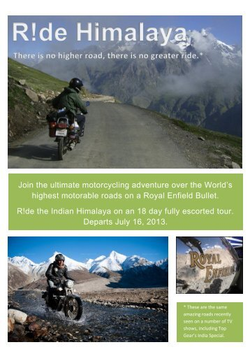 Join the ultimate motorcycling adventure over the World's ... - Sheoaks