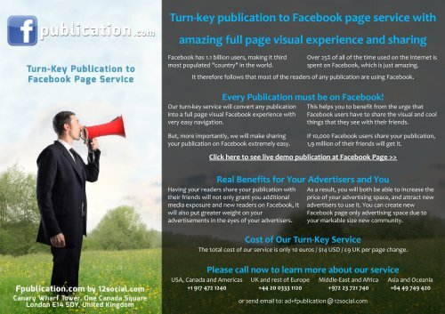 Turn Key Publication To Facebook Page Service With Google Drive
