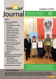 Absolventenzeitung - Landwirtschaftliche Fachschulen Winklhof