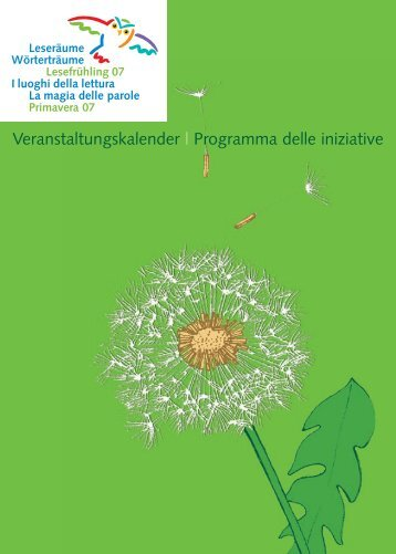 Veranstaltungskalender | Programma delle iniziative