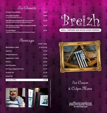 Ice Cream & Crêpes Menu - Breizh