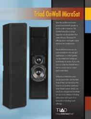 Features - Triad Speakers