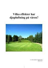 Vilka effekter har - Golf.se