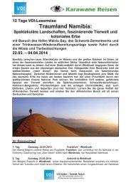 Traumland Namibia: - VDI Stuttgart
