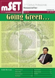 Issue 10 : April - June 2011 - malaysian society for engineering and ...