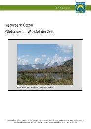 Naturpark Ötztal: Gletscher im Wandel der Zeit