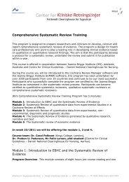 Modtager af faktura - Center for Kliniske Retningslinjer