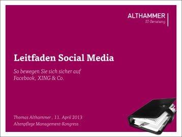 Leitfaden Social Media - Althammer IT-Beratung