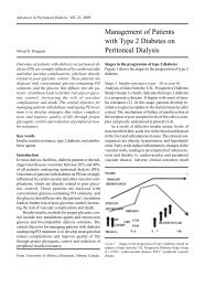 Management of Patients with Type 2 Diabetes on Peritoneal Dialysis