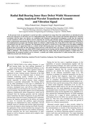 Radial Ball Bearing Inner Race Defect Width Measurement using ...