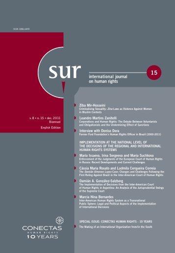 international journal on human rights - Sur